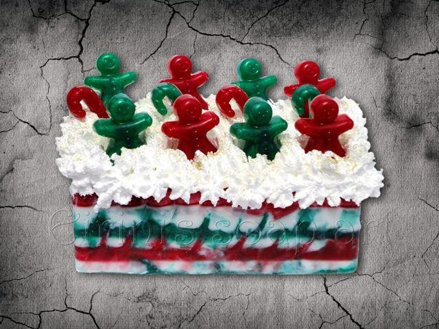 Christmas swirling 2 soap