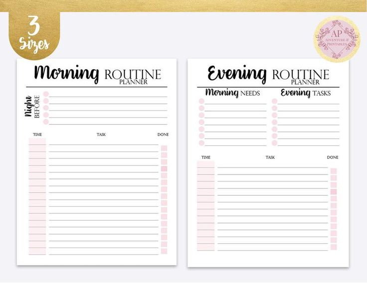 Daily Rituals Kit Morning And Evening Routine Night Ritual Morning Ritual Journal Template Journal Bullet Journal Printable Daily Routine Planner Evening Routine Routine Planner