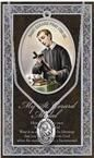 PEWTER ST GERARD MEDAL WITH BIOGRAPHY PRAYERCARD - 950-615