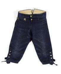 Kan det vara ett par folkliga byxor i jeanstyg? Nej de är i vadmal!