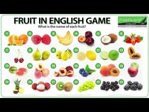 Fruit - English Vocabulary List and Fruit vs Fruits Grammar  #Naukaangielskiego #English