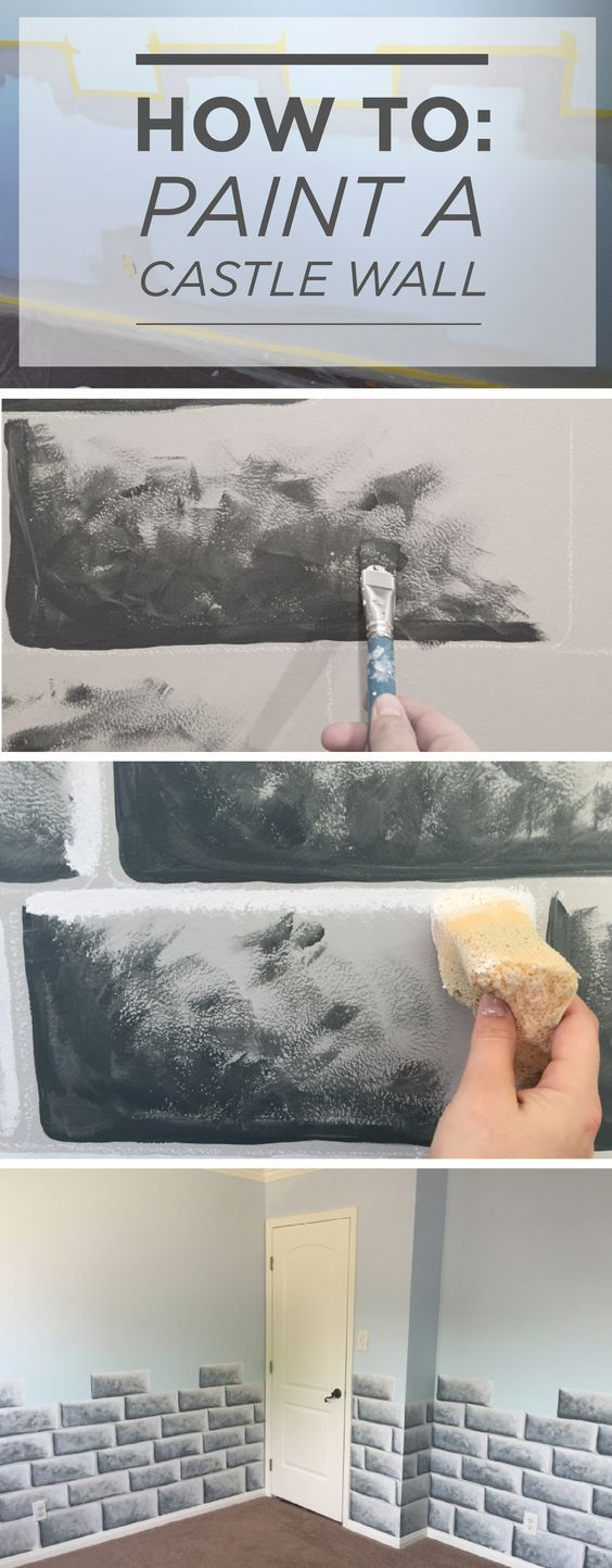 how to paint a castle wall for sophie pinterest pintar