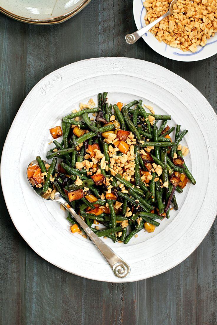 This stir-fried Chinese long beans with peanuts dish is simple to make yet flavorful. Double the recipe as the side will go quickly.