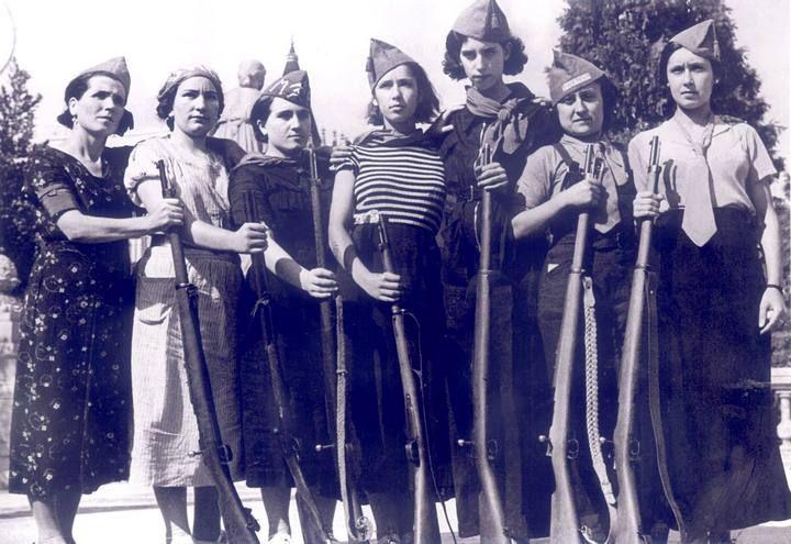 Milicianas de Barcelona durante la Guerra Civil