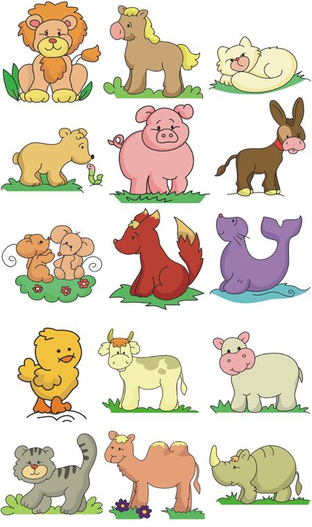 Free embroidery designs set of 9 animals