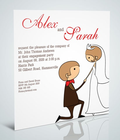 13 best Engagement invitations images on Pinterest Engagement - online engagement invitation cards free