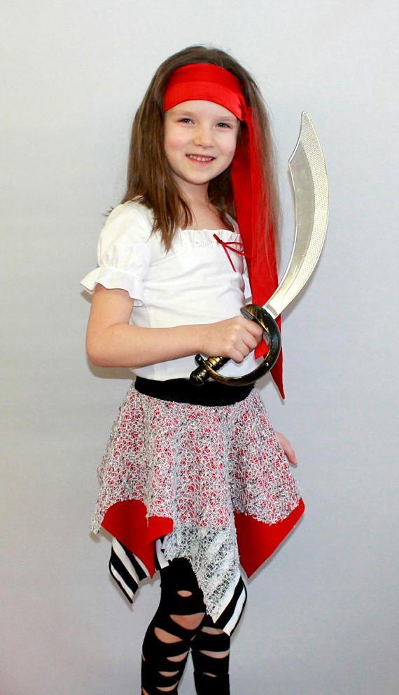 Pirate costume/Girl costume/girl pirate Costume/kids pirate