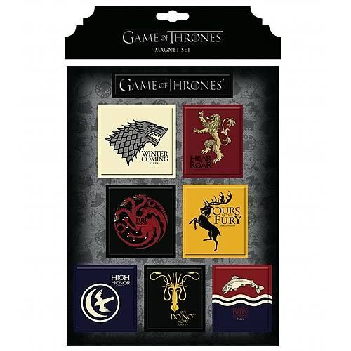 Gamerzoutlet.com - Game of Thrones House Magnet Set, $9.99 (http://www.gamerzoutlet.com/game-of-thrones-house-magnet-set/)