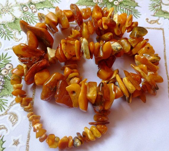 Jewelry w. antique gemstones 114g Baltic AMBER by ForCollecting