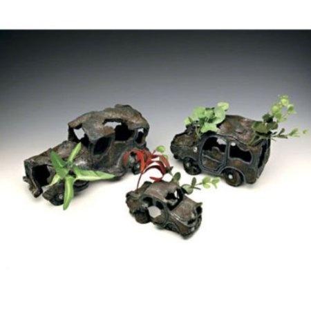 Sunken car wreck aquarium decorations size for Aquarium decoration kits