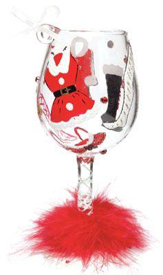 lolita wine glasses images | wine glass christmas ornament hot mama claus lolita love my wine glass ...