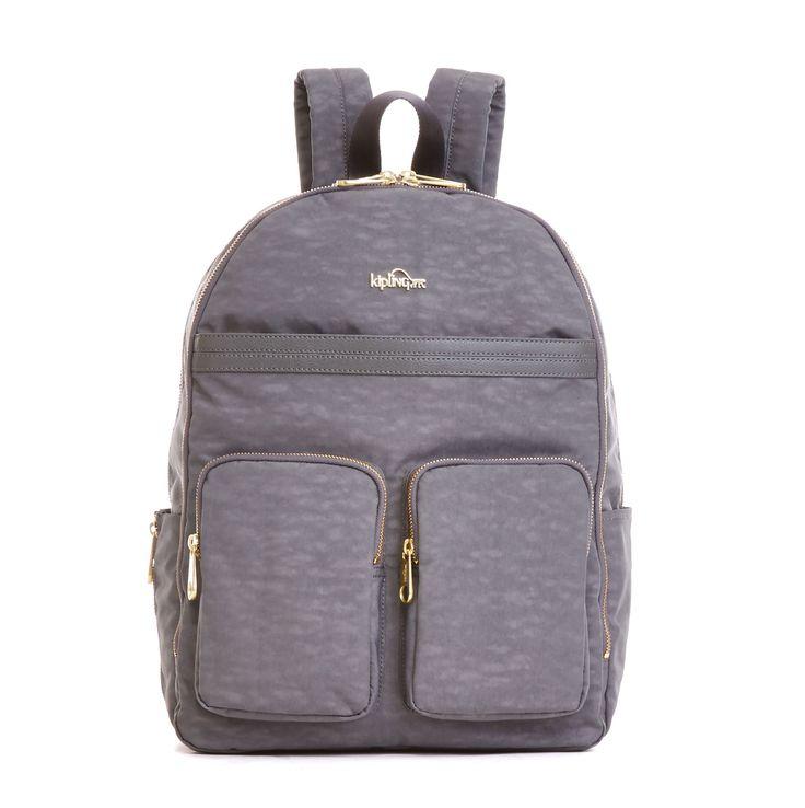 Tina Laptop Backpack - Dusty Grey Combo   Kipling