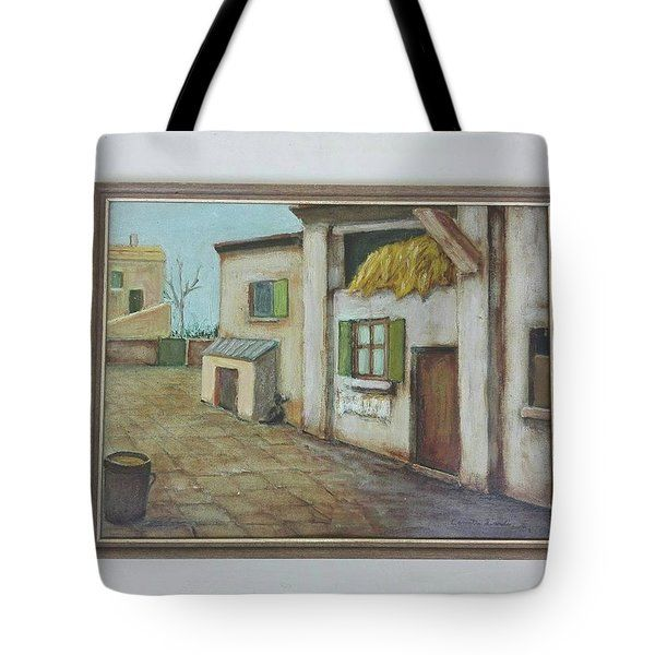 Tote Bag featuring the painting Fienile by Camillo Liardi