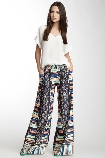 """Another """"clean"""" look and not over-doing the palazzo pants."""