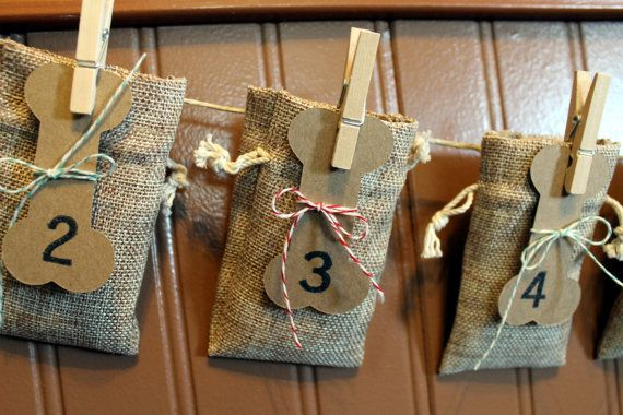This special garland advent calendar is made just for your fur baby! Any dog will love getting a daily treat from this durable burlap bag advent Calendar. #ourmomstouch https://www.etsy.com/listing/210048426/dog-countdown-calendar-advent-calendar?ref=shop_home_active_15