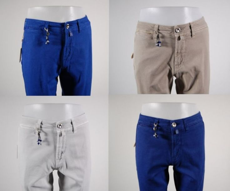 Fancy cotton slim fit stretch pants 4 color fradi Made in Italy