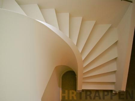 z stair with rounded stringer - very modern looking staircase