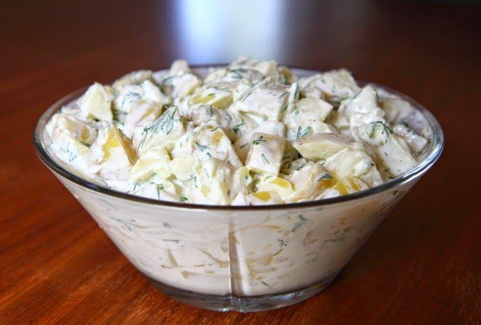 Da vi havde gæster til grill sidste fredag, lavede jeg bl.a. den her fantastiske kolde kartoffelsalat med dild. Det er en opskrift, jeg har ...