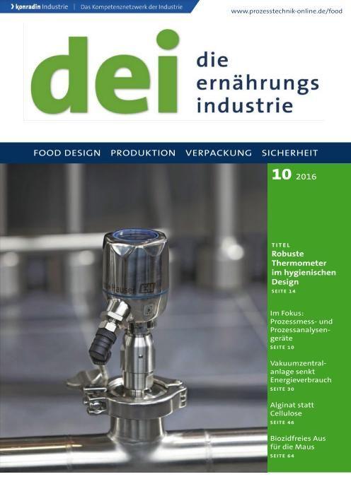 Die Ernährungs Industrie - Nr.10 2016