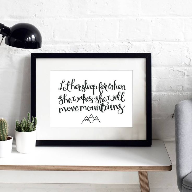 Let Her Sleep' Typographic Print