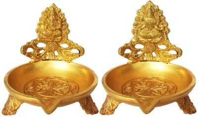 Aakrati Decorative Oil Lamp With Ganesh Lakshmi Ji Brass Table Diya Price in India - Buy Aakrati Decorative Oil Lamp With Ganesh Lakshmi Ji Brass Table Diya online at Flipkart.com