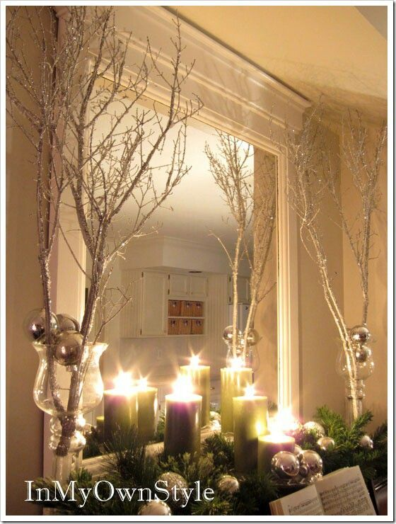 28 best tree branches center pieces images on pinterest for Twigs decoration for weddings