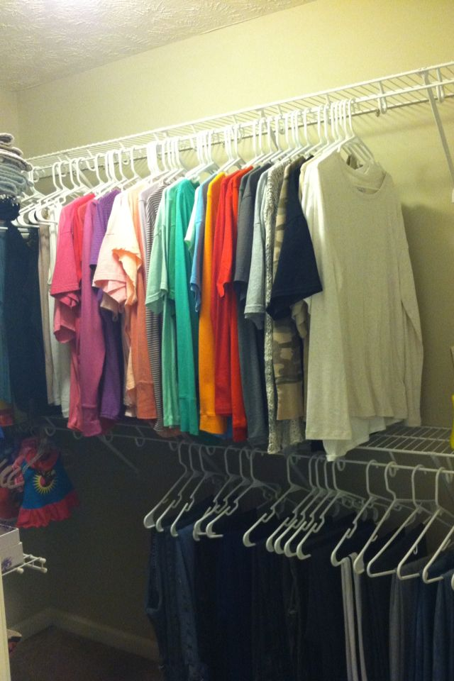 My home life story how to diy organize your walk in for Organized walk in closet