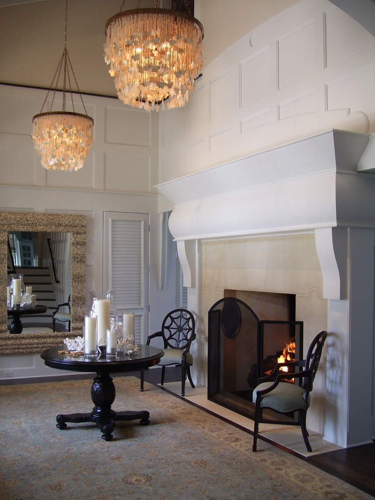 Foyer Screen Ideas : Quite a foyer gas logs by golden blount custom screen