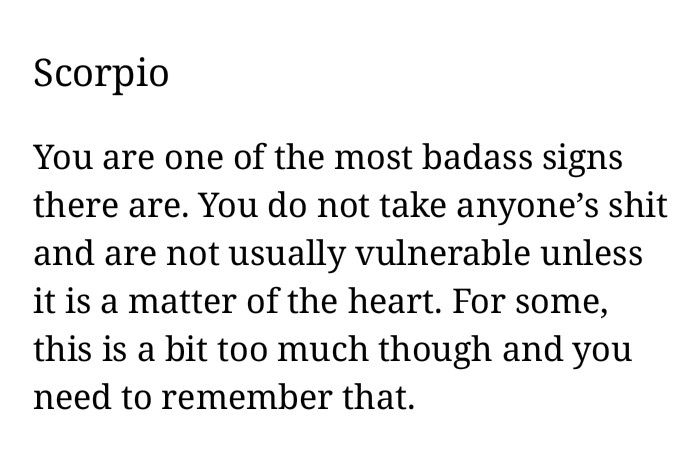 Bad ass = Scorpio  Still learning to be one