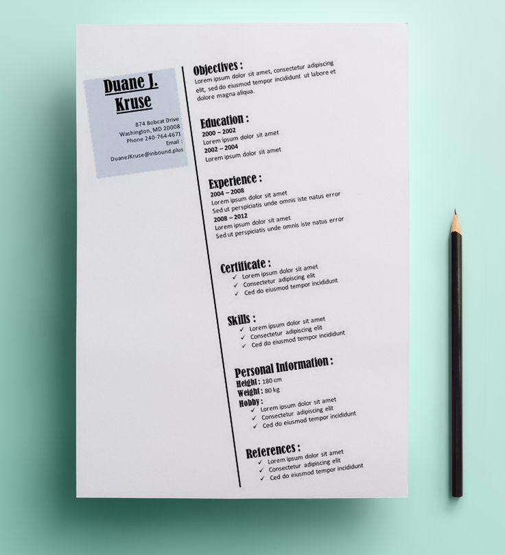 Ten Great Free Resume Templates Microsoft Word Download Links: 10+ Images About Resume Template Microsoft Word On