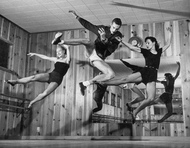 Dance class, 1952.