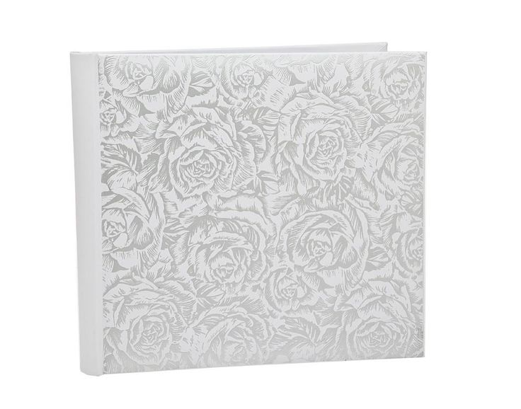 4X6 PHOTO ALBUM WHITE ROSE (LARGE), HOLDS 500 PICTURES
