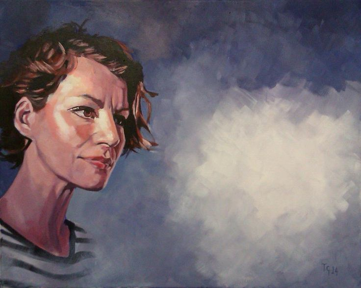 Painting No.20 for 'The Eternal Now' now complete. Just one more portrait to go now. @sball11 @AlanWattsDaily