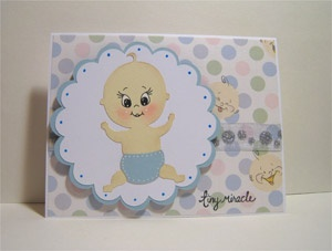 Baby Card using New Arrival and Peachy Keen Stamps