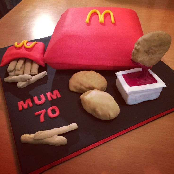 Family Food And Fun First Birthday Cake: McDonalds Chicken Nugget Cake