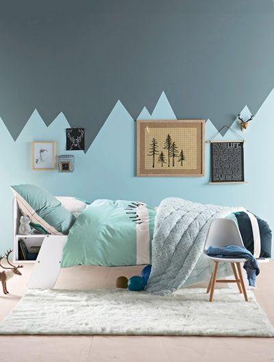 Kinderbett mit Kopfteil und Regalfach WEIß