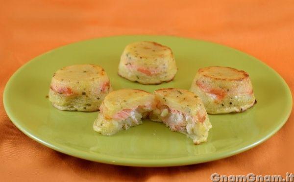 Tortino di patate e salmone