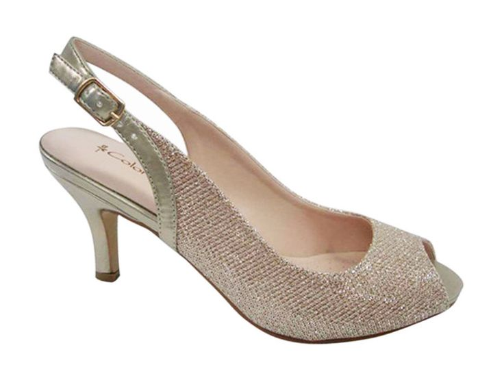 Athena Low Heel Bridal Shoes From Coloriffics Wedding