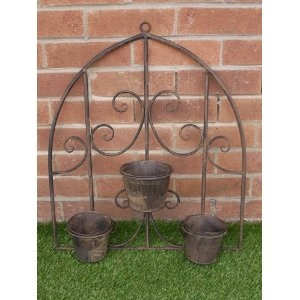 78 best images about outdoor wrought iron wall decor on pinterest garden wall planter vintage. Black Bedroom Furniture Sets. Home Design Ideas