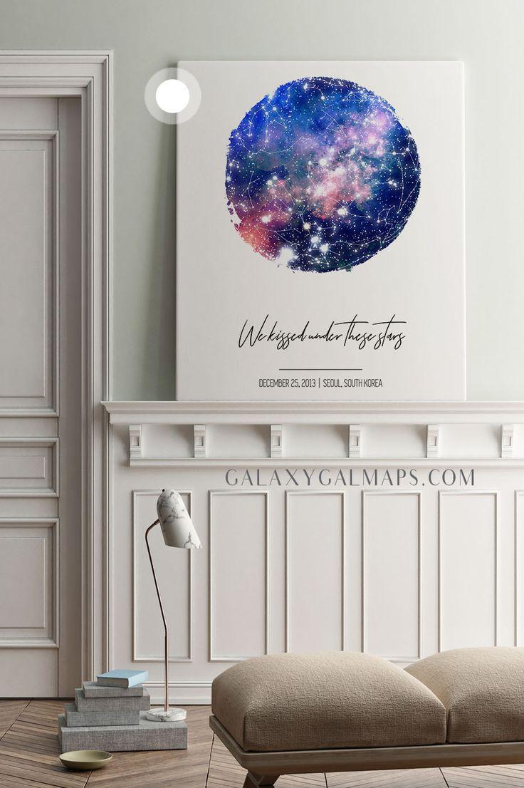 – NEW! – Your CUSTOM Star Map  – Star Decor, Custom Bridal Art, Texas Gift, For Boyfriend, Custom Moon Phases, Maine Wall ArtChristmas Gift, Book Alte…
