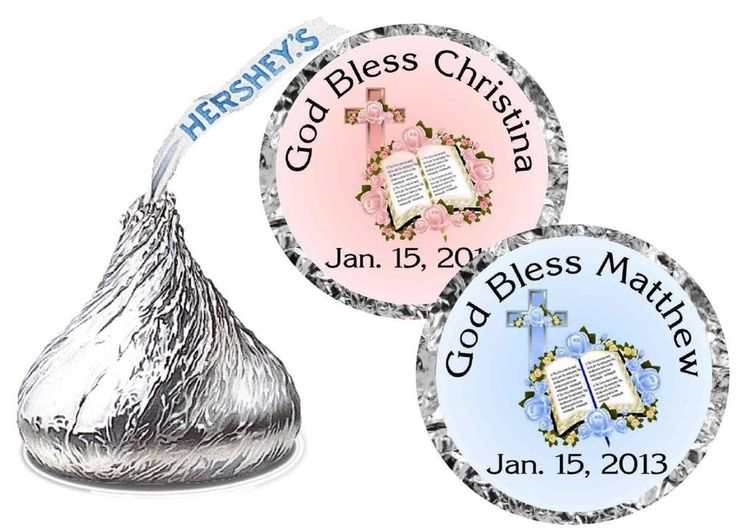 108 BAPTISM CHRISTENING PARTY FAVORS HERSHEY KISS LABELS #Unbranded