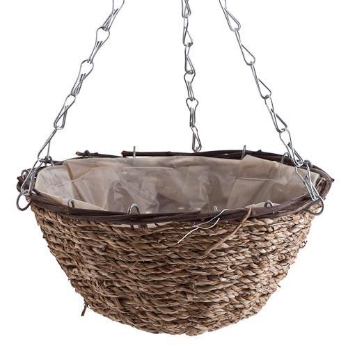 Seagrass Hanging Basket | Poundland