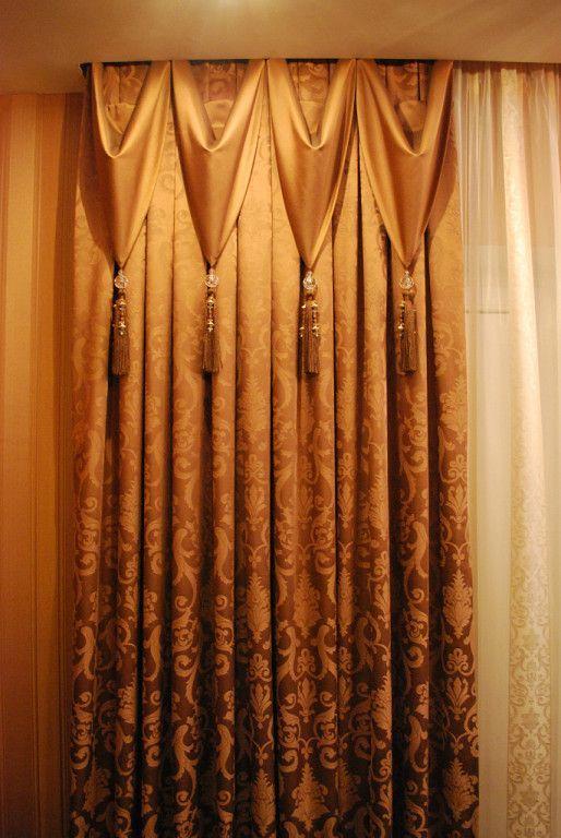 Дизайн штор до подоконника фото