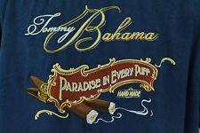 Tommy bahama мужская, размер L, рубашка гавайская голубая цветочные шелковые повседневные сигары рай пуф