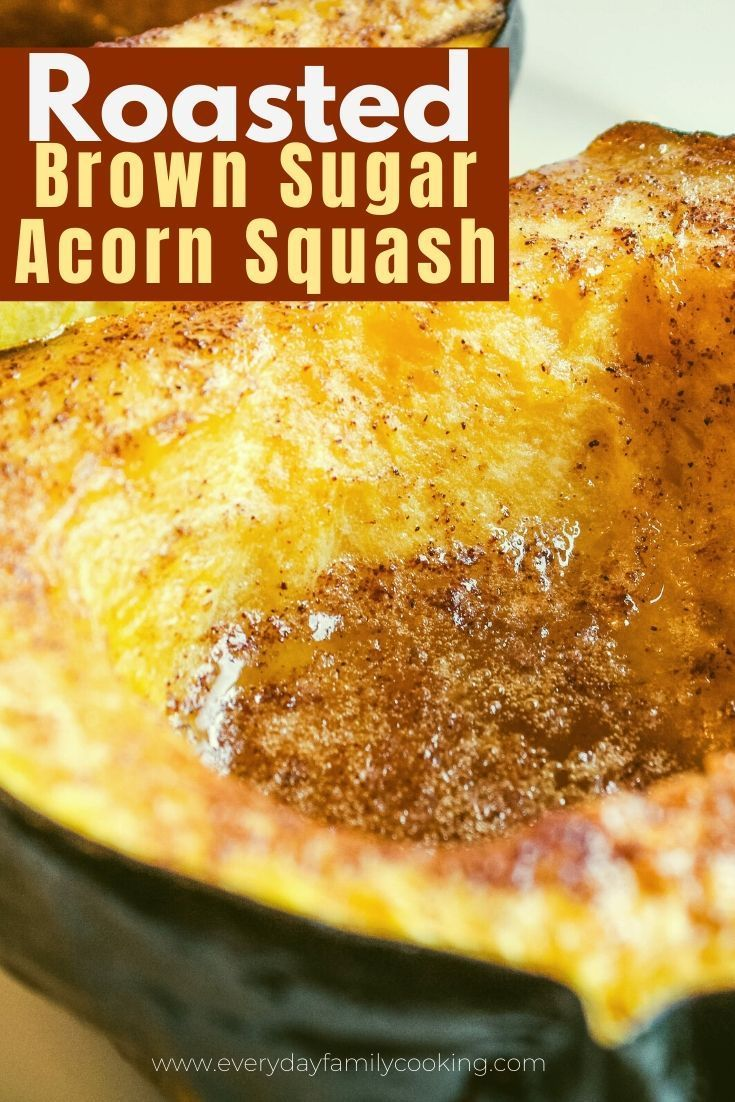 Roasted Acorn Squash With Brown Sugar And Cinnamon Recipe With