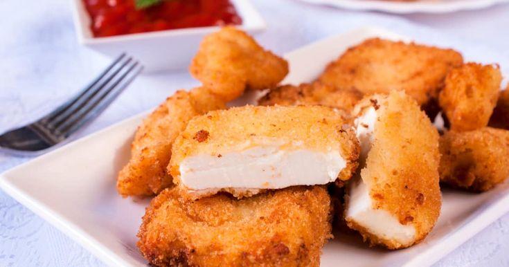 Découvrez cette recette de Carrés fondants aux trois fromages pour 4 personnes, vous adorerez!