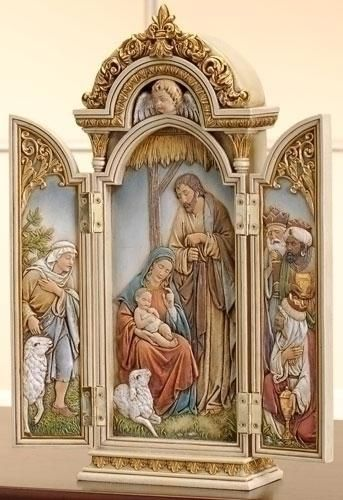 "Nativity Triptych Joseph Studio Roman Inc 46691 12.75""H"