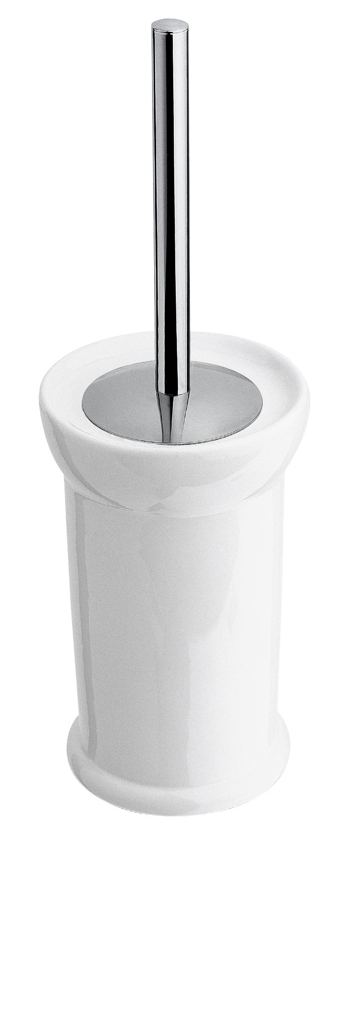 1491 - Ceramic Toilet Brush Container & Brush with cover, BAGNO www.sinkandtap.com.au