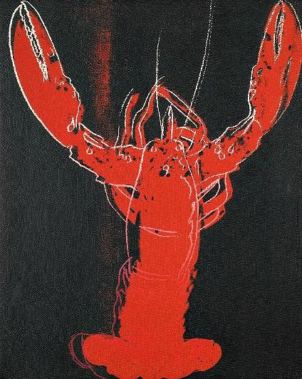 Andy Warhol: Lobster, 1984. @Eileen Vitelli Vitelli Wuerth