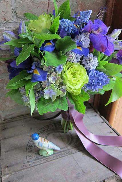 blue, green and violet bouquet. very refreshing, | Bridal ...